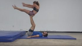 AcroYoga To Connect The Deaf & Blind Man With His Hearing Wife
