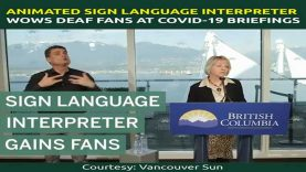 Animated Sign Language Interpreter Wows Deaf Fans At COVID-19 Briefings