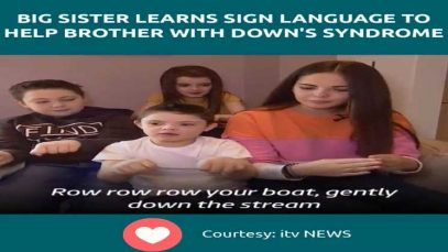 Big Sister Learns Sign Language to Help Brother With Down's Syndrome