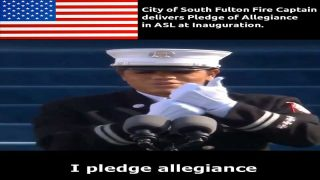 Captain Andrea's Pledge of Allegiance in ASL