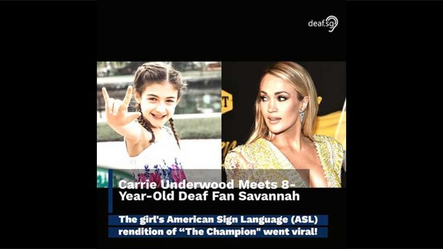 Carrie Underwood Meets A Deaf Fan Savannah Who Signs The Champion