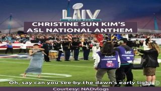 Christine Sun Kim's American Sign Language (ASL) National Anthem at the Super Bowl LIV