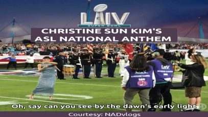 Christine Sun Kim's American Sign Language (ASL) National Anthem at the Super Bowl LIV
