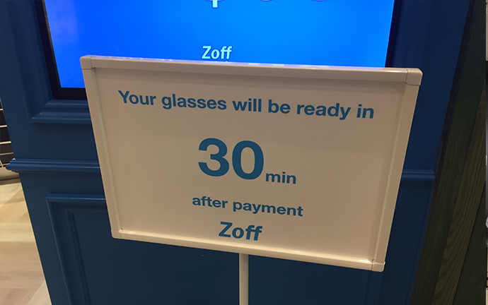 collect glasses in 30 minutes