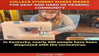 College Student Makes Masks for Deaf and Hard of Hearing Community