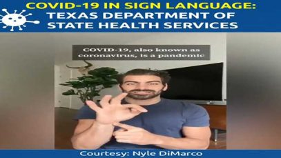 COVID-19 in Sign Language: Texas Department of State Health Services