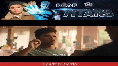 Deaf Chella Man as Jericho on Netflix DC's Titans
