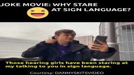 Deaf Joke BSL Movie: Why Stare at Sign Language