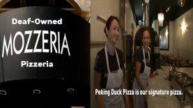 Deaf-Owned Mozzeria Pizzeria's Signature Peking Duck Pizza in San Franciso