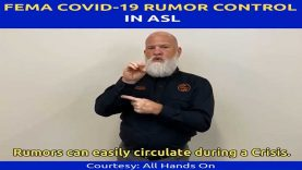 FEMA COVID-19 Rumor Control in American Sign Language (ASL)