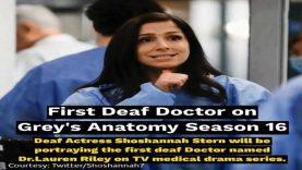 First Deaf Doctor on Grey's Anatomy Season 16