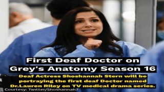 First Deaf Doctor on Grey's Anatomy Season 16