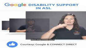 Google Disability Support in American Sign Language (ASL)
