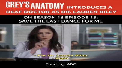 Grey's Anatomy Introduces The First Deaf Doctor on Season 16