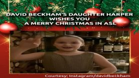 Harper Beckham Wishes Everyone A Merry Christmas in American Sign Language (ASL)