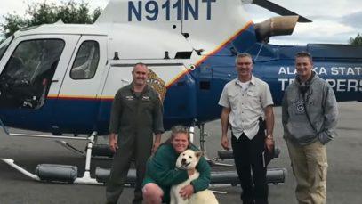 Hero Husky Rescues Deaf Hiker Who Falls 700-Feet Down Snowy Mountain