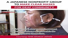 A Japanese Nonprofit Group to Make Clear Masks for Deaf Community