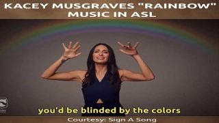 Kacey Musgraves Rainbow Music in ASL