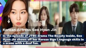 Korean Actress Seo Hyun Jin's Korean Sign Language Skills