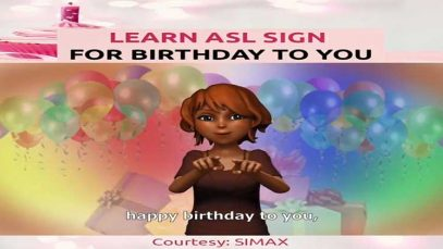Learn American Sign Language (ASL) Sign for Birthday
