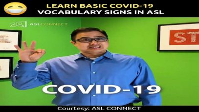Learn Basic COVID-19 Vocabulary Signs in ASL