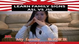 Learn Family Signs in ASL Vs JSL