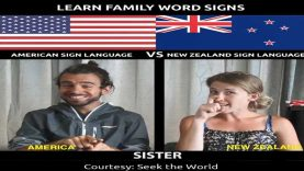 Learn Family Word Signs in Different International Sign Language