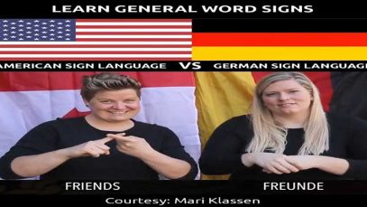 Learn General Word Signs in American Sign Language Vs German Sign Language