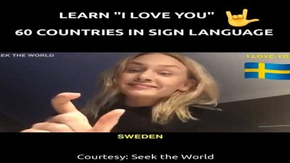 "Learn ""I Love You"" for 60 Countries in Sign Language"