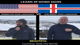 Learn More Than 40 Word Signs in American Sign Language Vs Icelandic Sign Language