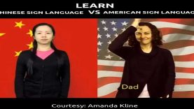 Learn Some Signs in Chinese Sign Language vs American Sign Language