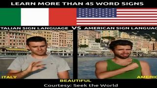 Learn More Than 45 Word Signs in Italian Sign Language Vs American Sign Language