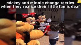 Mickey & Minnie's Magical Sign Language Made A Deaf Child's Day At Disneyland