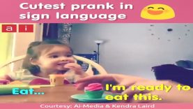 Mom's Cutest Prank in Sign Language on Deaf Girl