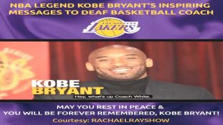 NBA Legend Kobe Bryant's Inspiring Messages to Deaf Basketball Coach