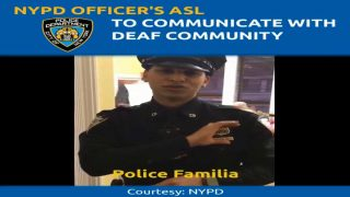NYPD Officer's American Sign Language (ASL) to Communicate With Deaf Community