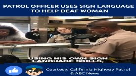 Police Officer Uses Sign Language & His Own Cash to Help A Deaf Woman