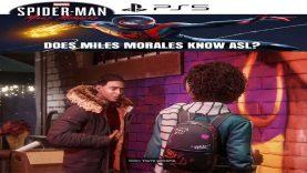 PS5 Marvel's Spider-Man Miles Morales Knows ASL