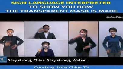 Sign Language Interpreter to Show You How The Transparent Mask Is Made