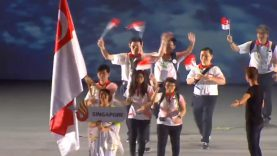 Singapore Deaf Team At Opening Ceremony 23rd Summer Deaflympics 2017