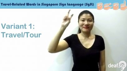 Singapore Sign Language Lesson: Travel-Related Words