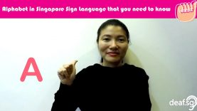 Singapore Sign Language SGSL Lesson: Alphabet