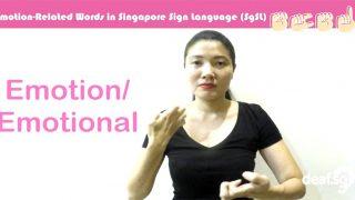 Singapore Sign Language (SgSL) Lesson: Emotion-Related Words