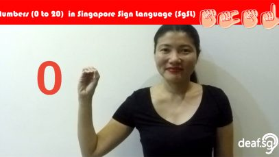 Singapore Sign Language (SGSL) Lesson: Numbers