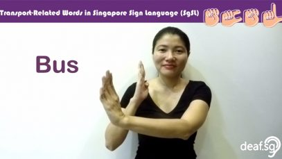 Singapore Sign Language (SgSL) Lesson: Transport-Related Words