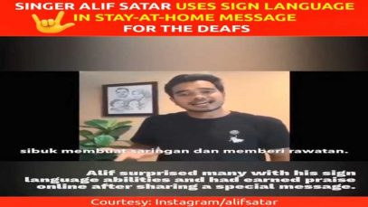 Singer Alif Satar Uses Sign Language in Stay-at-Home Message for the Deafs