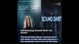 Sound Shirt for Deafs to Feel the Music
