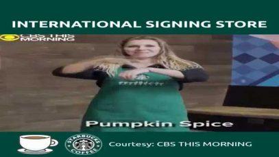 Starbucks' International Signing Store