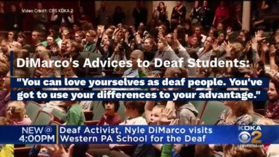 Deaf Activist Nyle DiMarco's Surprise Visit to The Western Pennsylvania School For The Deaf