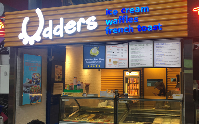 udders home-grown ice cream brand in singapore